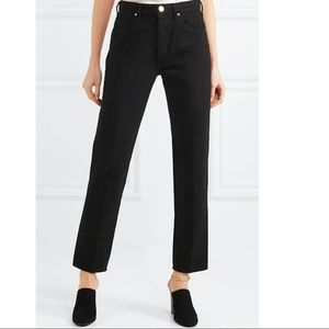 The Benefit High-rise Straight-leg Jeans - Black Gold Sign 0EnotL7r1